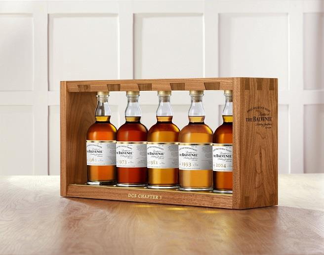百富首席調酒師典藏系列 第三章以「酒窖管理的秘密」為系列主題,精選5款珍稀具代表性的單一麥芽威士忌酒款。(百富提供)