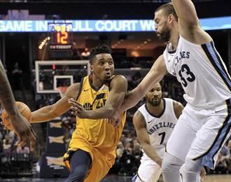 NBA》菜鳥射手紀錄夜 爵士送灰熊16連敗