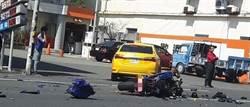 計程車疑未讓直行車 撞飛紅牌重機駕駛