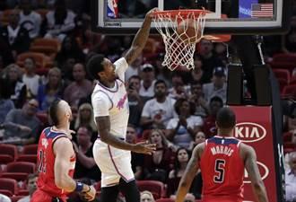 NBA》韋德左腿拉傷退場 熱火照樣海K巫師