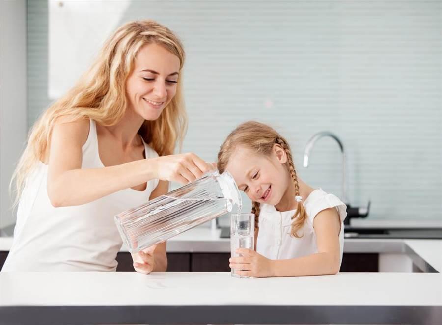 年紀不同喝水的量也不同。