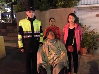 外籍看護推老翁散步迷路 中市暖警助返家