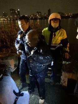 大同分局民族所員警 冒著天寒跳河救輕生翁