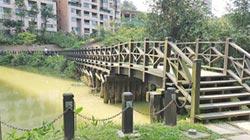 汐止金龍湖棧道翻修 改水泥仿木