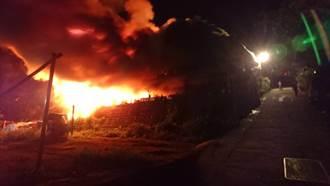 阿里山鄉里佳部落發生火警