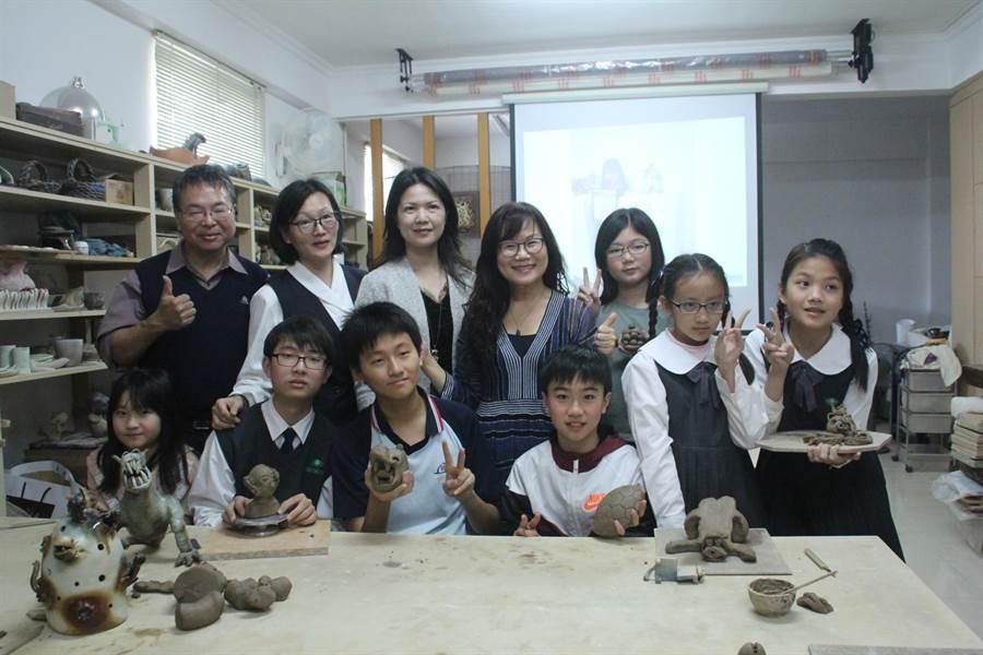 彭雅美連續9年帶著學生參加全國陶藝賽,今年帶著9位學生參賽,帶回2項特優、2項佳作及3項入圍。(張祈攝)