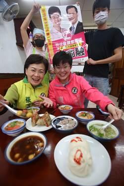 陳俞融收到支持者送凍蒜地圖 鼓勵邊吃邊拜票