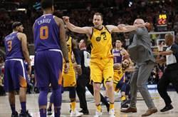 NBA》都是裁判惹禍?太陽與爵士上演全武行