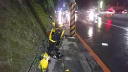 疑天雨路滑自撞電桿 女大生1死1傷