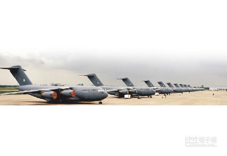 印軍C-17運輸機。(取自印度空軍官網)