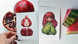 新鮮水果全部變成人物會怎麼樣?藝術家筆下超有想像力的水果女孩們