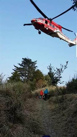 山友登大霸尖山不慎滑落受傷 直升機出動救援