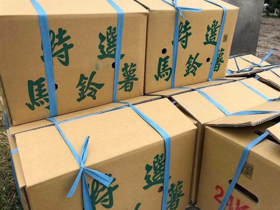 潭子馬鈴薯採收後,分級包裝上市銷售。(潭子農會提供)