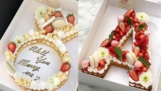 誰說生日蛋糕一定圓形!IG超威的蛋糕絕對是這款「馬卡龍加鮮花立體蛋糕」