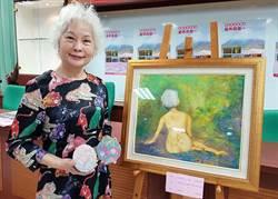 曾患腦瘤的楊碧桃靠畫作度低潮  捐畫供國昌國中進行義賣