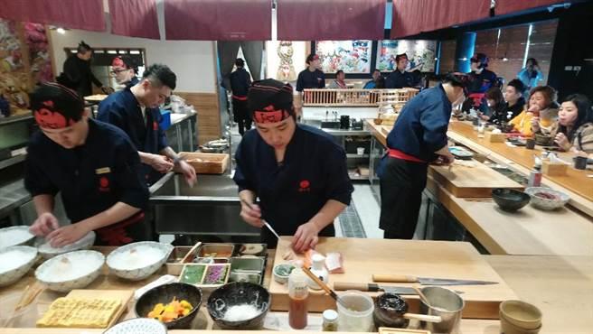 「鵝房宮」日本料理旗艦店,主打無菜單料理,平均客單價從千元起跳。(圖/曾麗芳)