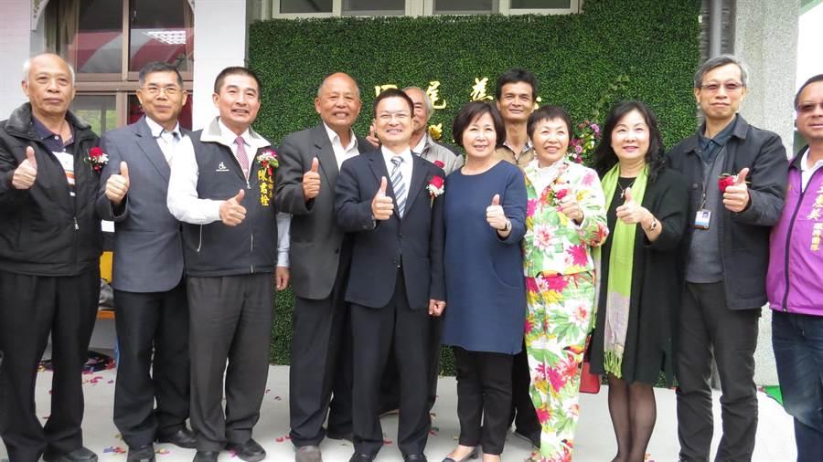 田尾鄉第1家日照中心21日在北曾社區開幕了。(鐘武達攝)