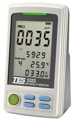 TES-5322可精確評估空氣品質 泰仕空污偵測儀 超靈敏