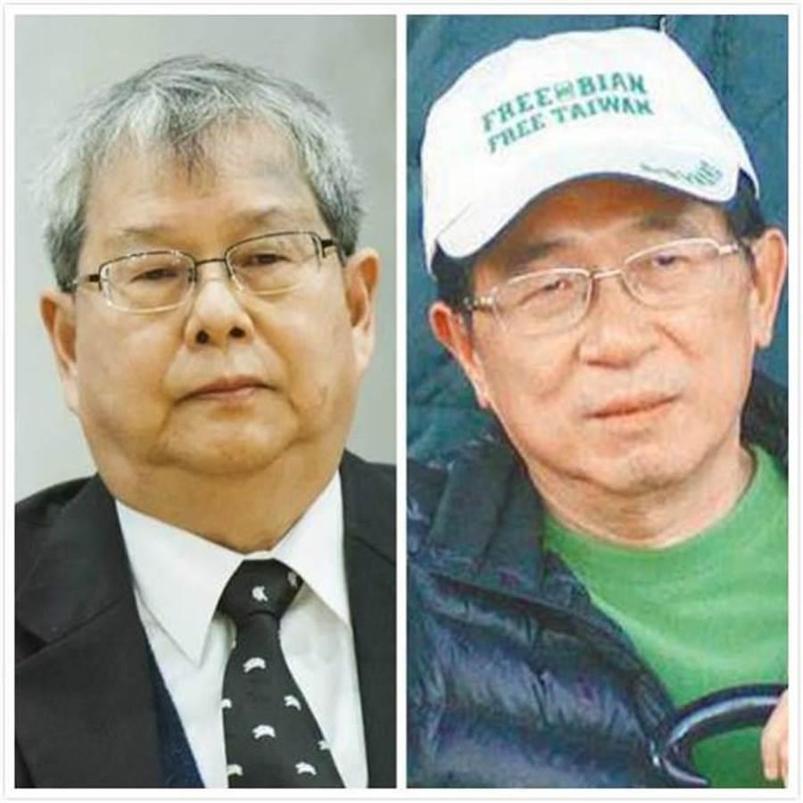監委陳師孟(左)、前總統陳水扁(右)。(合成圖/中時資料照片)