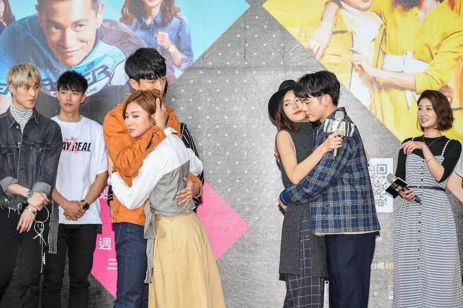 演員群玩愛的抱抱。(三立提供)