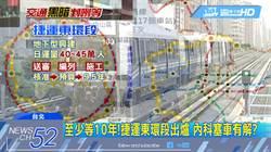 影》至少等10年! 捷運東環段出爐 內科塞車有解?