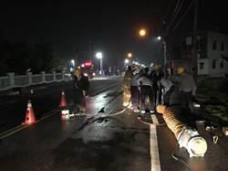 北港天然瓦斯管線外洩 漏夜搶修解除氣爆危機