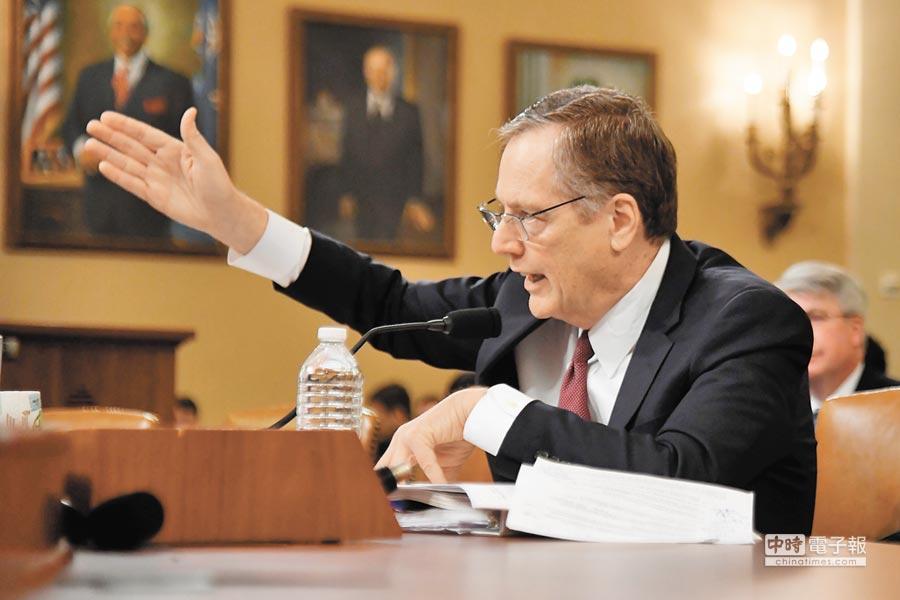 3月21日,美國華盛頓,美貿易代表萊特希澤在聯邦眾議院籌款委員會就川普政府貿易政策作證。(新華社)