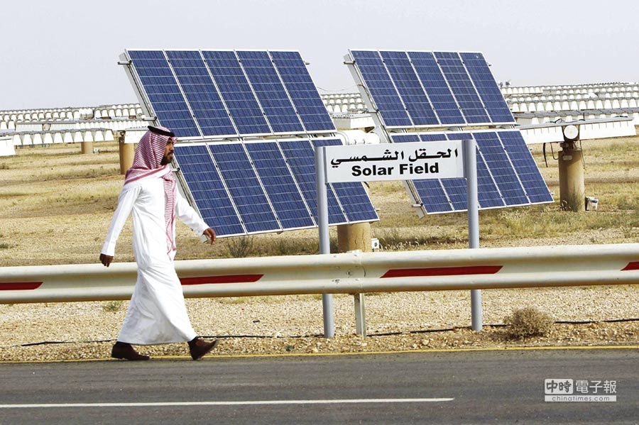 沙國太陽能電廠。圖/路透