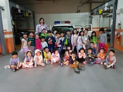 一日小小警察  幼童參訪新店警分局