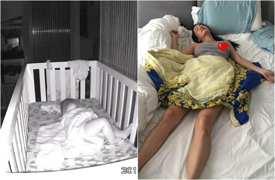 Janet貼出豪邁睡姿意外激凸!(圖/取自臉書)