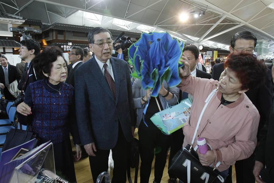 日本真中祭文化財團理事長岡田邦彥到場支持台中週活動。