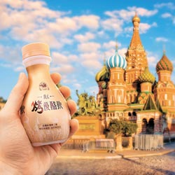 俄式烤優酪飲焦糖香絲滑順口