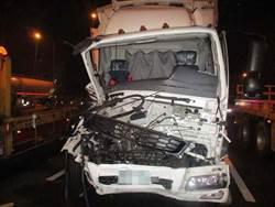 影》轎車尾被削平!國道5車連環撞 釀1死2傷