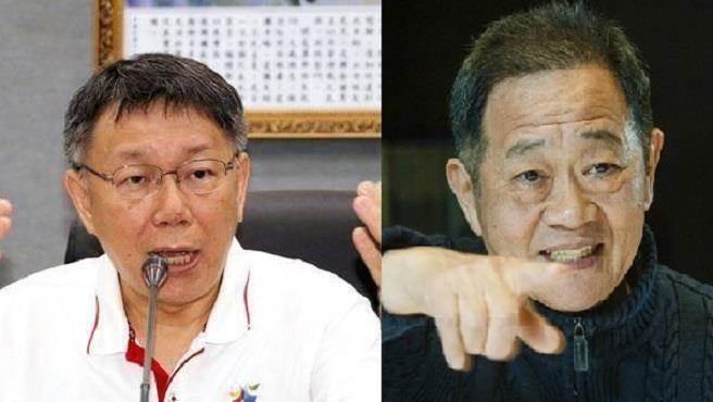 台北市長柯文哲(左)與競選對手李錫錕(右)。(本報系資料照)