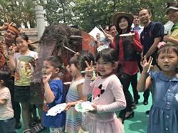 壽山動物園兒童節很牛 小朋友很忙