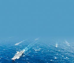 大規模航母編隊現身南海 警示台美