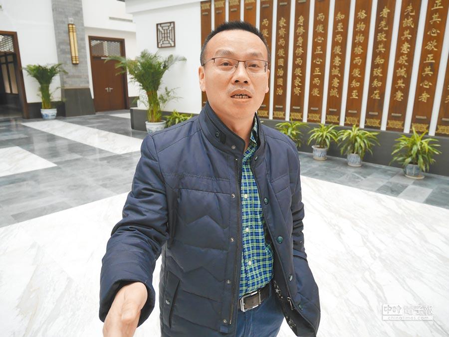 北京清華大學中美關係研究中心主任陳琪5日受訪表示,當前中美關係好比國際關係中的「膽小鬼遊戲」。(記者陳君碩攝)