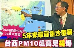 《中時晚間快報》5年來最嚴重沙塵暴 台西PM10達褐爆級