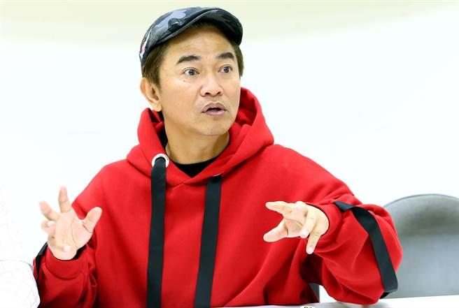 吳宗憲今出席《超級新人王》節目。(粘耿豪攝)