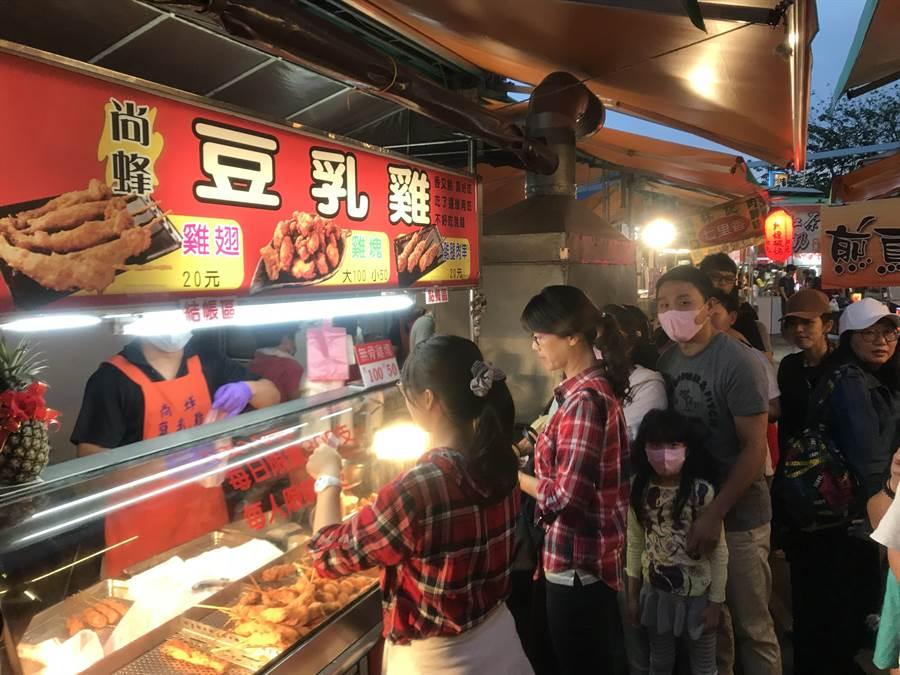 尚峰豆乳雞開幕祭出優惠。(柯宗緯攝)