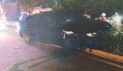 連撞2車再撞分隔島 竹市前議員3度酒駕被逮