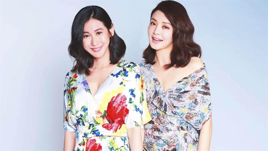 夏如芝、林利霏擔任「伊萊恩養髮系列」擔任形象大使。(伊林娛樂)