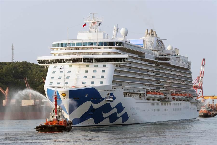 盛世公主號臺灣首航,引領優質遊輪旅遊新標竿。圖 :公主遊輪提供