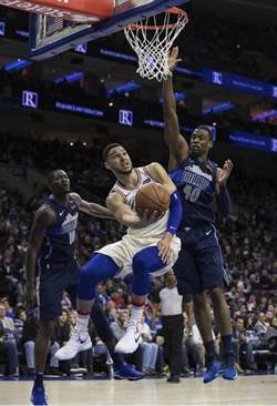 NBA》「詹皇接班人」班西蒙斯場均大三元 七六人14連勝