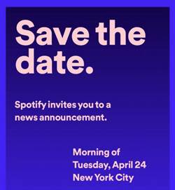 Spotify確定4/24舉辦發表會 智慧音箱或車載新品可望亮相