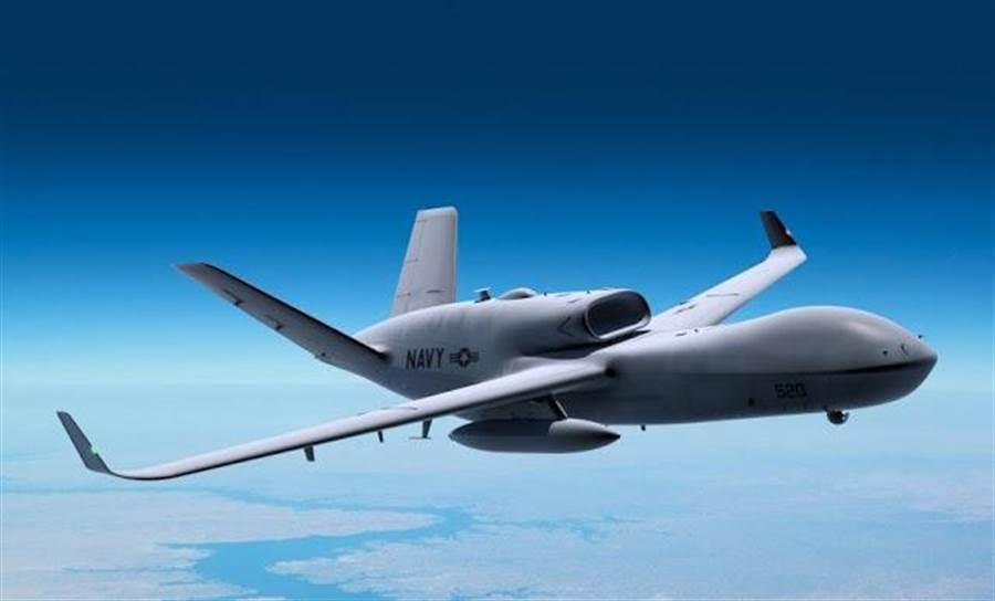 通用原子公司的MQ-25無人加油機,外型很像復仇者無人攻擊機。(圖/通用原子公司)