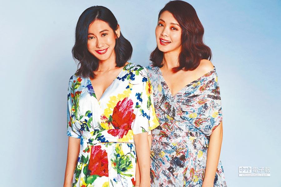 夏如芝(右)、林利霏擔任「伊萊恩養髮系列」形象大使。