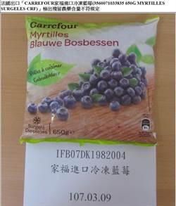 家樂福進口冷凍藍莓 農藥值超標遭海關攔下
