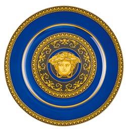 VERSACE 25年 秀皇家藍餐瓷