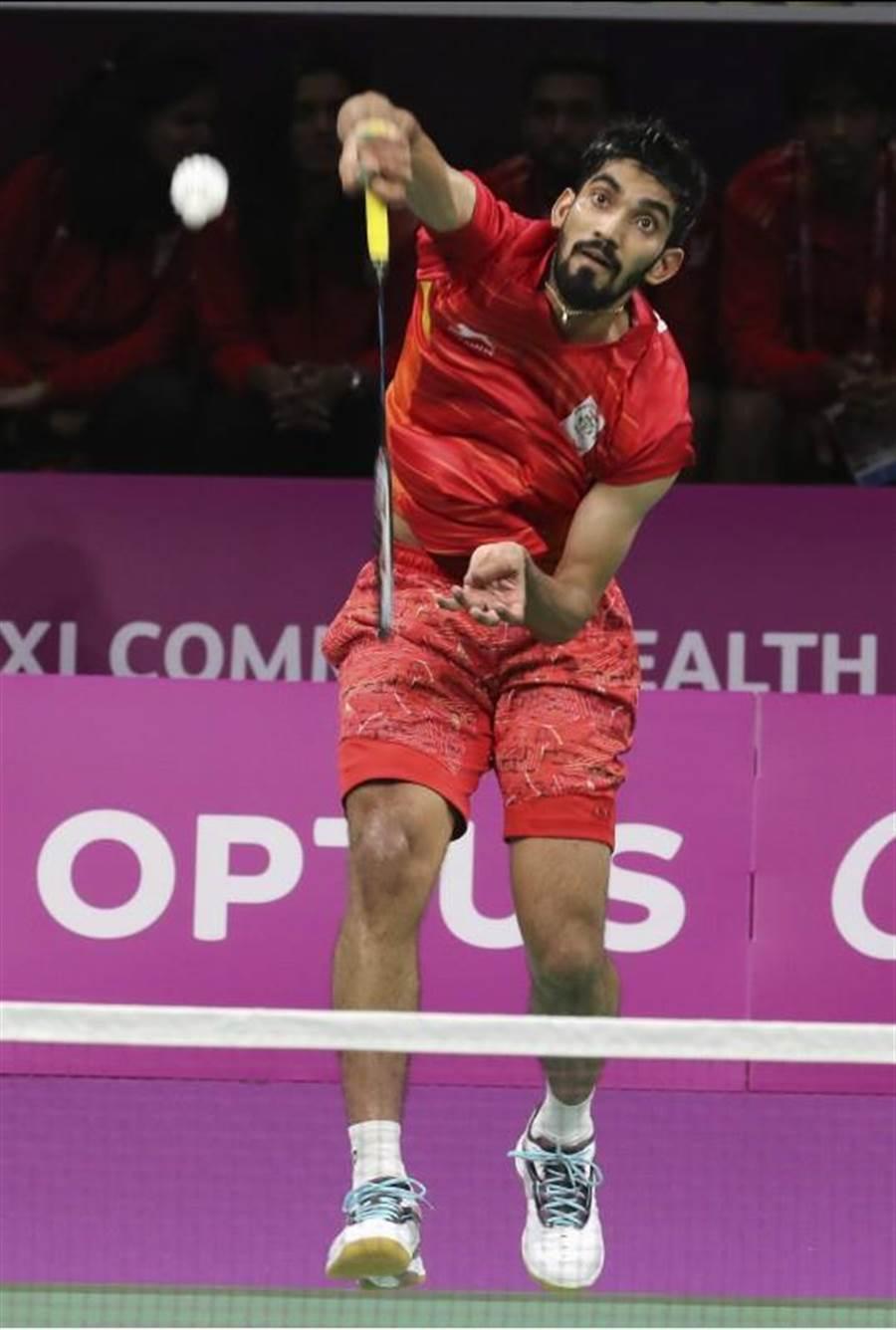 印度斯里坎特下周成為新科世界羽壇球王。(美聯社)